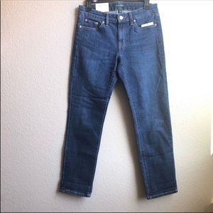 Ralph Lauren mid rise tapered skinny jeans